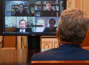 Vaizdo koferencija | prezidentas.lt nuotr.