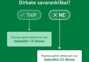 VMI: Dirbantieji savarankiškai jau gali deklaruoti pajamas | VMI nuotr.