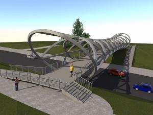 Jonavoje bus statomas modernus pėsčiųjų tiltas | Jonavos r. savivaldybės nuotr.