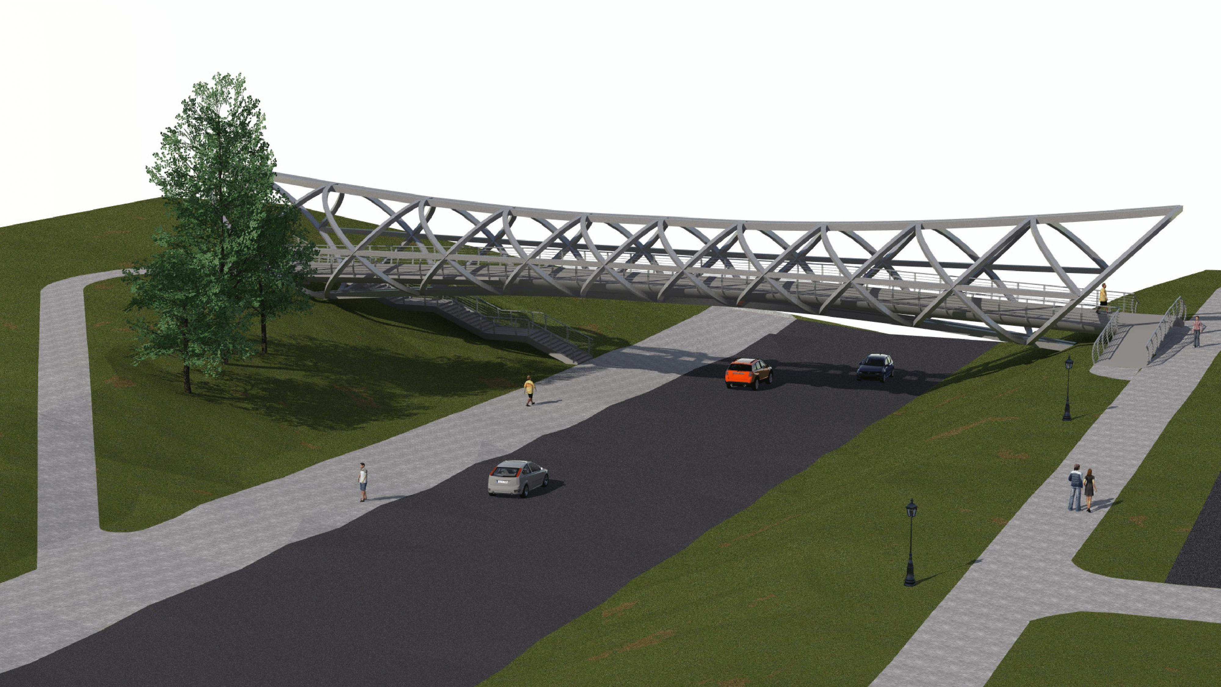 Jonavoje bus statomas modernus pėsčiųjų tiltas   Jonavos r. savivaldybės nuotr.