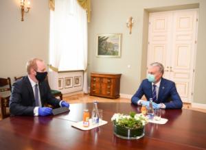 M. Macijausko ir G. Nausėdos susitikimas    prezidentas.lt nuotr.