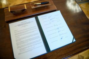 Susitarimas dėl darbuotojų pajamų išsaugojimo | prezidentas.lt nuotr.