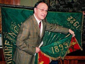 """Šveicarijos Fribūro universitete 1899 metais įsteigta ir išsaugota lietuvių studentų """"Lituanika"""" draugijos vėliava   J. Survilaitės nuotr."""