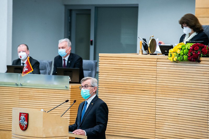 Seimas iškilmingai sutiko Steigiamojo Seimo ir Lietuvos Respublikos 100-metį | lrs.lt nuotr.