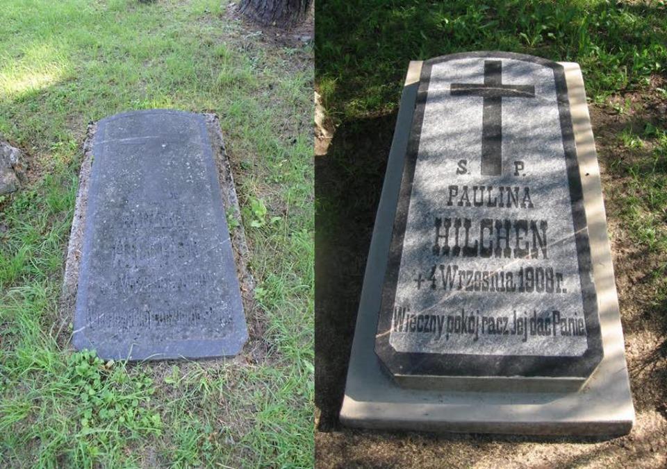 Atnaujintas Paulinos Hilchen antkapinis paminklas Senųjų Rasų kapinėse 2019 m. | Visuomeninės Rasų kapinių draugijos nuotr.