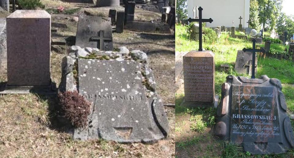 Atnaujinti Krasovskių šeimos antkapiniai paminklai Senųjų Rasų kapinėse 2019 m. | Visuomeninės Rasų kapinių draugijos nuotr.