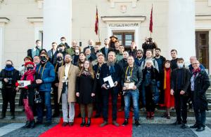 """""""Lietuvos spaudos fotografija 2020"""" nugalėtojų apdovanojimas   rengėjų nuotr."""