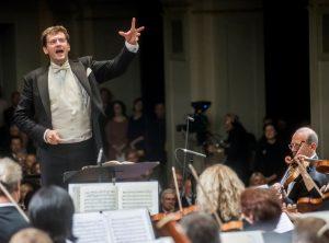 Modestas Pitrėnas ir Lietuvos nacionalinis simfoninis orkestras | Vilniaus festivaliai nuotr.