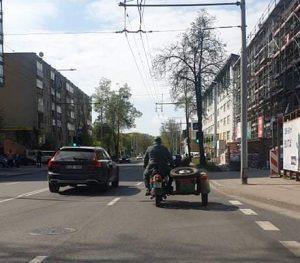 Motociklininkų akcija Vilniuje   Organizatorių nuotr.