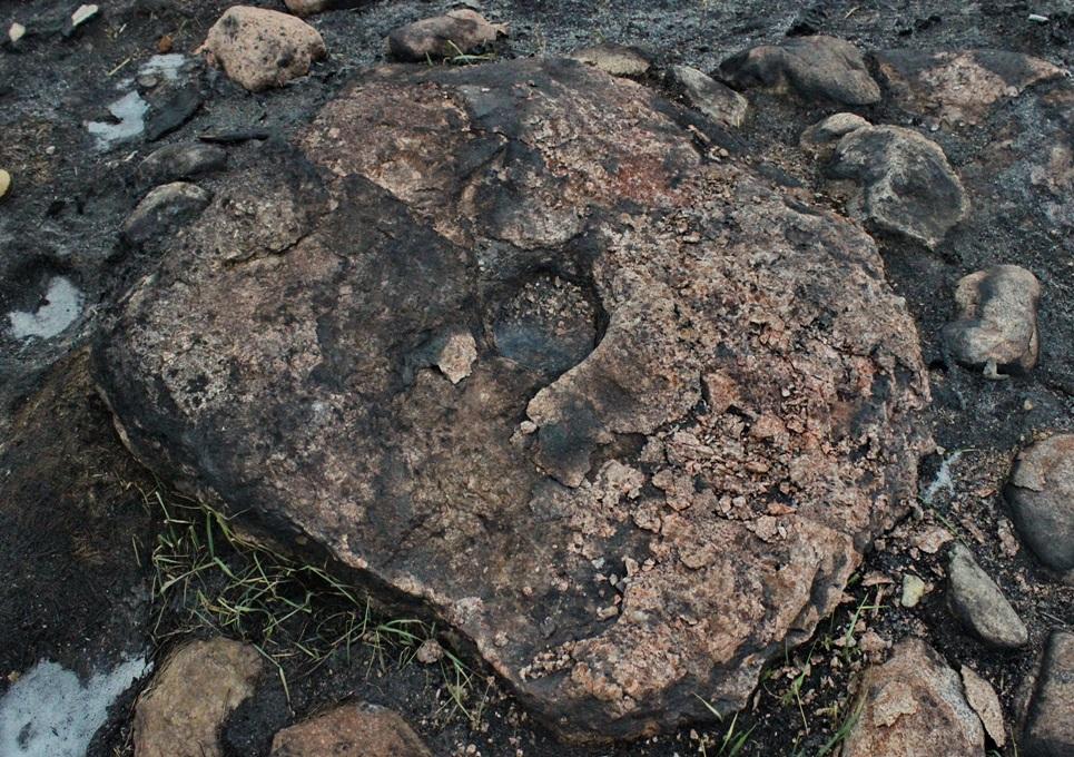 Kalnelio akmuo, sudegintas | V. Vaitkevičiaus nuotr.