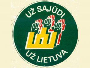 1-Už Sąjūdį už Lietuvą_priklijuojamas ženklas-red