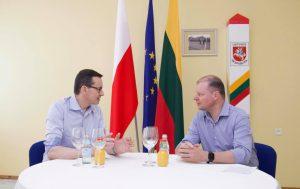 M. Moravieckis ir S. Skvernelis | lrv.lt nuotr.