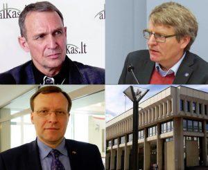 Arvydas Juozaitis, Sakalas Gorodeckis ir Naglis Puteikis | Alkas.lt koliažas