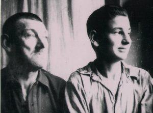 Kazys ir Antanas Špokevičiai tremtyje 1956 metais | knygos nuotr.