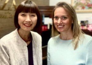Joko Jamasaki (Yuko Yamasaki) ir Erika Stankevičiūtė   E. Stankevičiūtės nuotr.