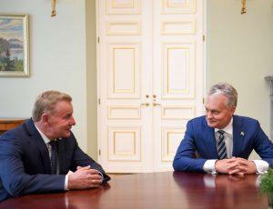 Gitano Nausėdos ir Rimanto Sinkevičiaus susitikimas | lrp.lt, R. Dačkaus nuotr.