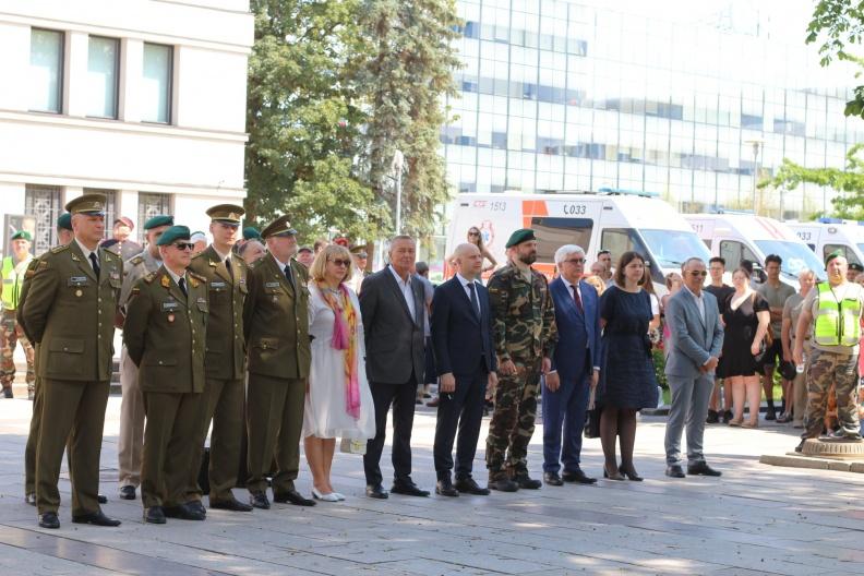 Lietuvos šaulių sąjungos (LŠS) vado pasikeitimo ir kovinės vėliavos perdavimo iškilmės | Vytauto Didžiojo karo muziejaus nuotr.