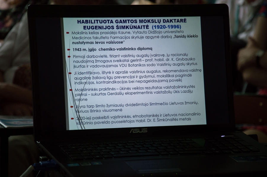 2020 07 01 E. Šimkūnaitės mokslinis praktinis seminaras VDU Botanikos sode | VDU Botanikos sodo nuotr.