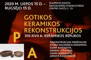 Kviečia gotikos keramikos rekonstrukcijų paroda | Rengėjų nuotr.