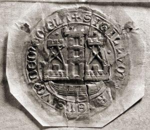 Memelio (Klaipėdos) miestiečių antspaudas. XVII a . pr. | Pilies muziejaus nuotr.