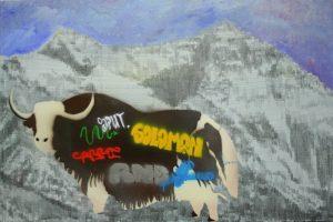 Vilniaus savivaldybė sinčia grafiti meistrus į Tibetą dalyvauti tyliajame pasipriešinime, akrilas, grafitas, purškiami dažai, 2019 | Rengėjų nuotr.