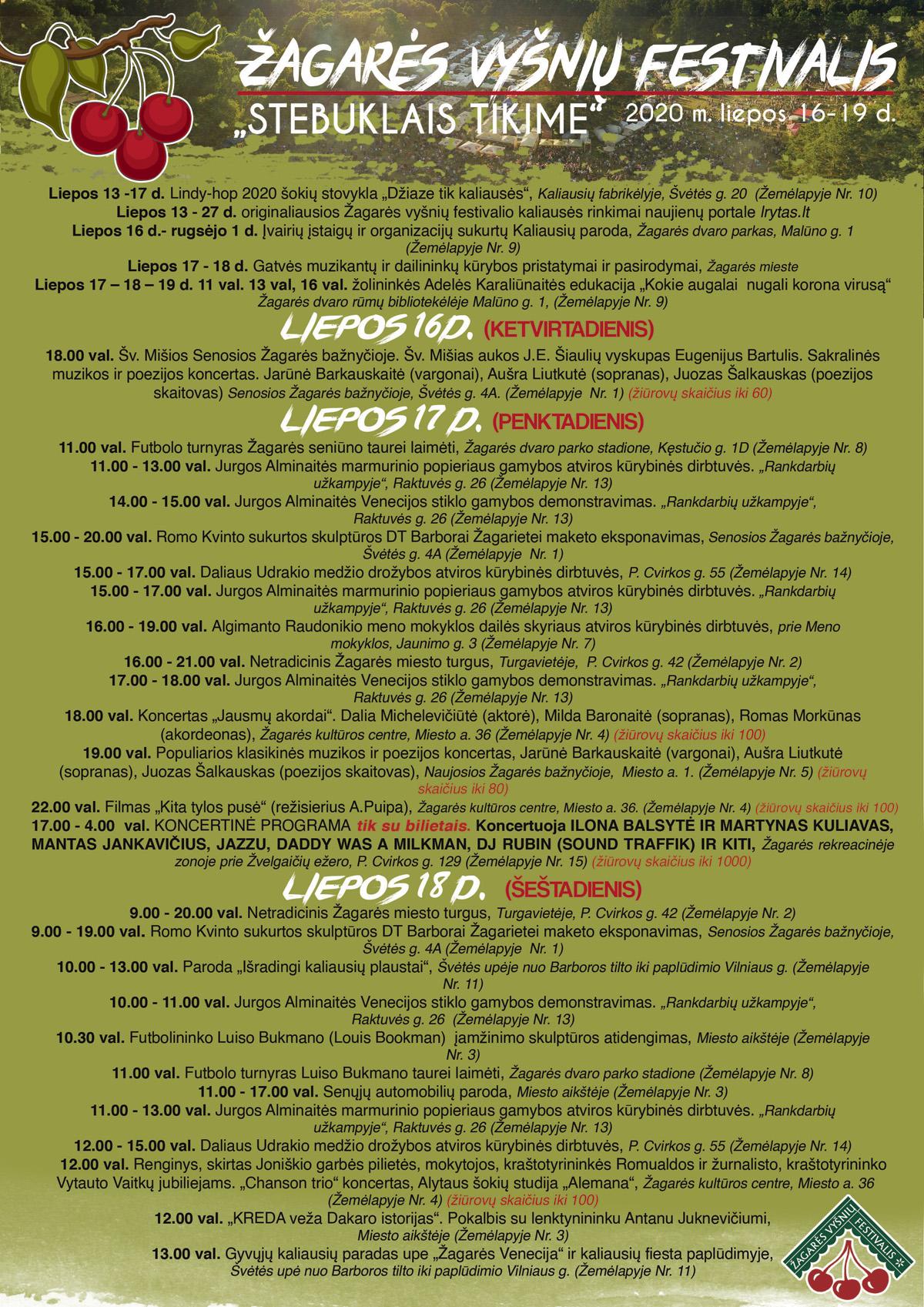 Zagares-vysniu-svente2020 .Programa