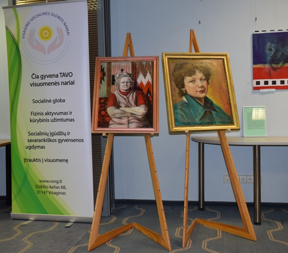 Menininko Jono Grundos paveikslų paroda Seime   Ignalinos rajono savivaldybės nuotr.