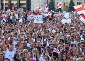 Minske tęsiasi šalies piliečių pasipriešinimas diktatoriaus Aleksandro Lukašenkos režimui | TUT.by nuotr.