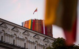 Baltijos šalių vėliavos Gedimino pilyje | lrv.lt nuotr.