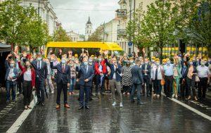 Į mokyklas išlydimi geltonieji autobusai | lrv.lt nuotr.
