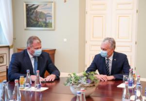 G. Nausėdos ir A. Palionio susitikimas | prezidentas.lt nuotr.