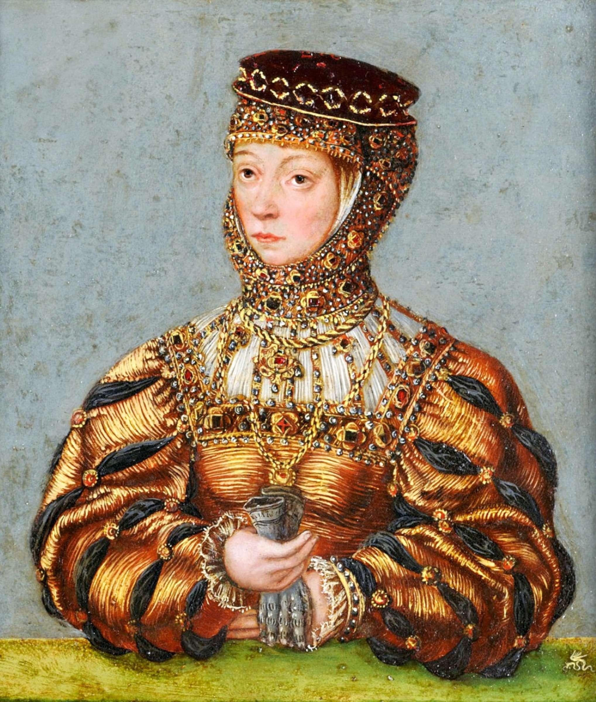 Barbora Radvilaitė | Čartoriskių muziejus, Luko Kranacho Jaunesniojo, apie 1553 m. paveikslas