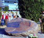 Kasp garbės sargyba prie paminklo | V. Mintaučkio nuotr.