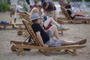 Paplūdimys Lukiškių aikštėje | vilnius.lt nuotr.