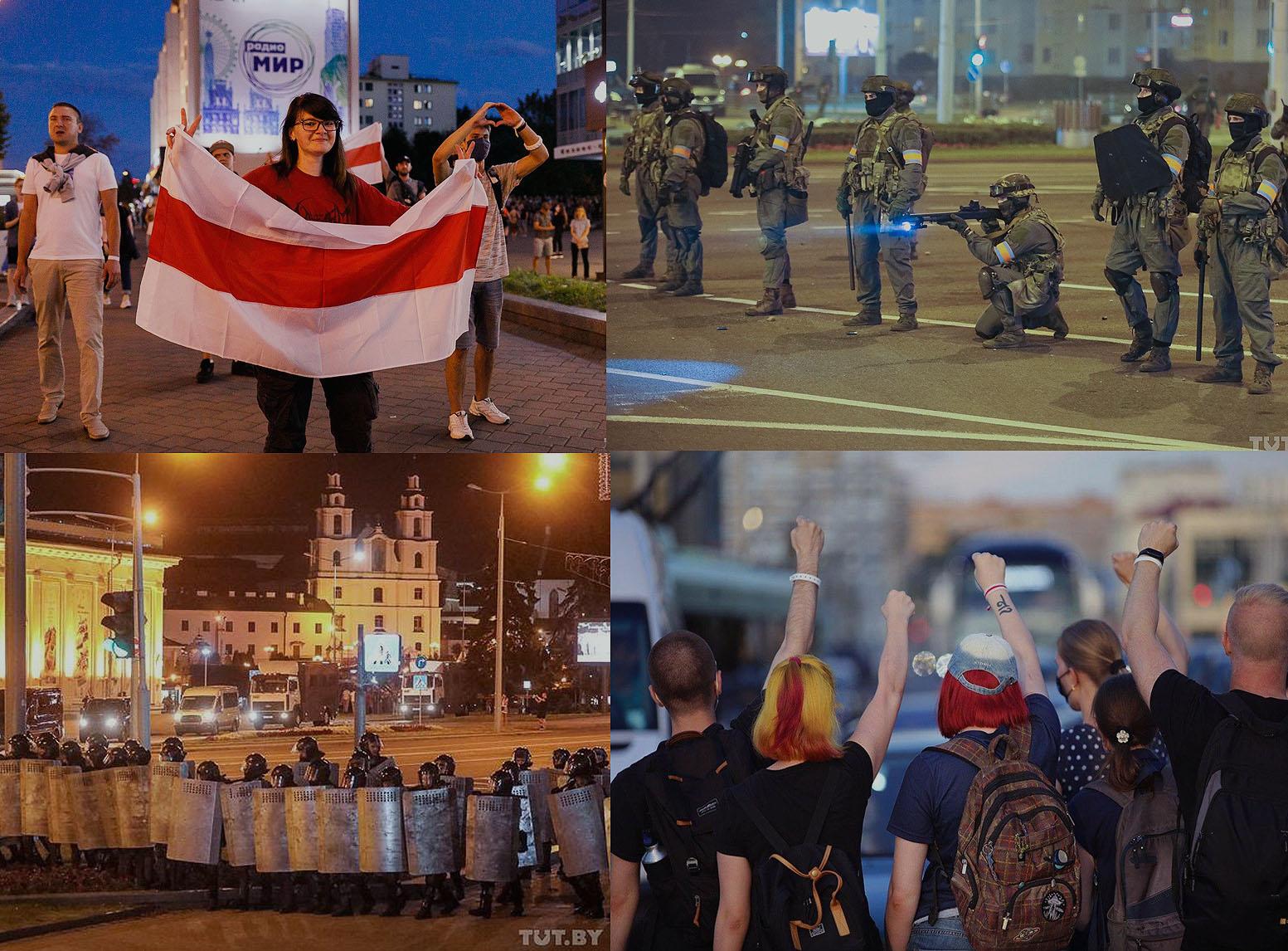 Protestai Baltarusijoje tęsiasi | TUT.by nuotr. koliažas