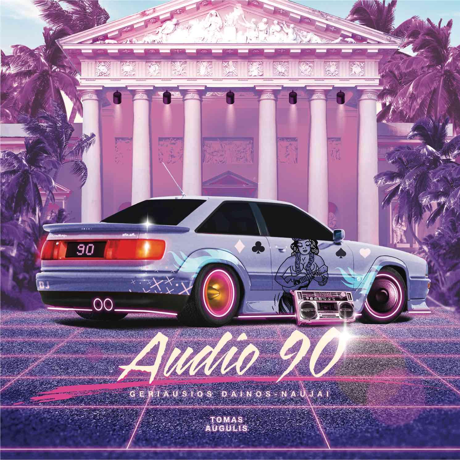 """Naujojo T. Augulio šokių muzikos albumo """"Audio 90"""" viršelis   T. Augulio nuotr."""
