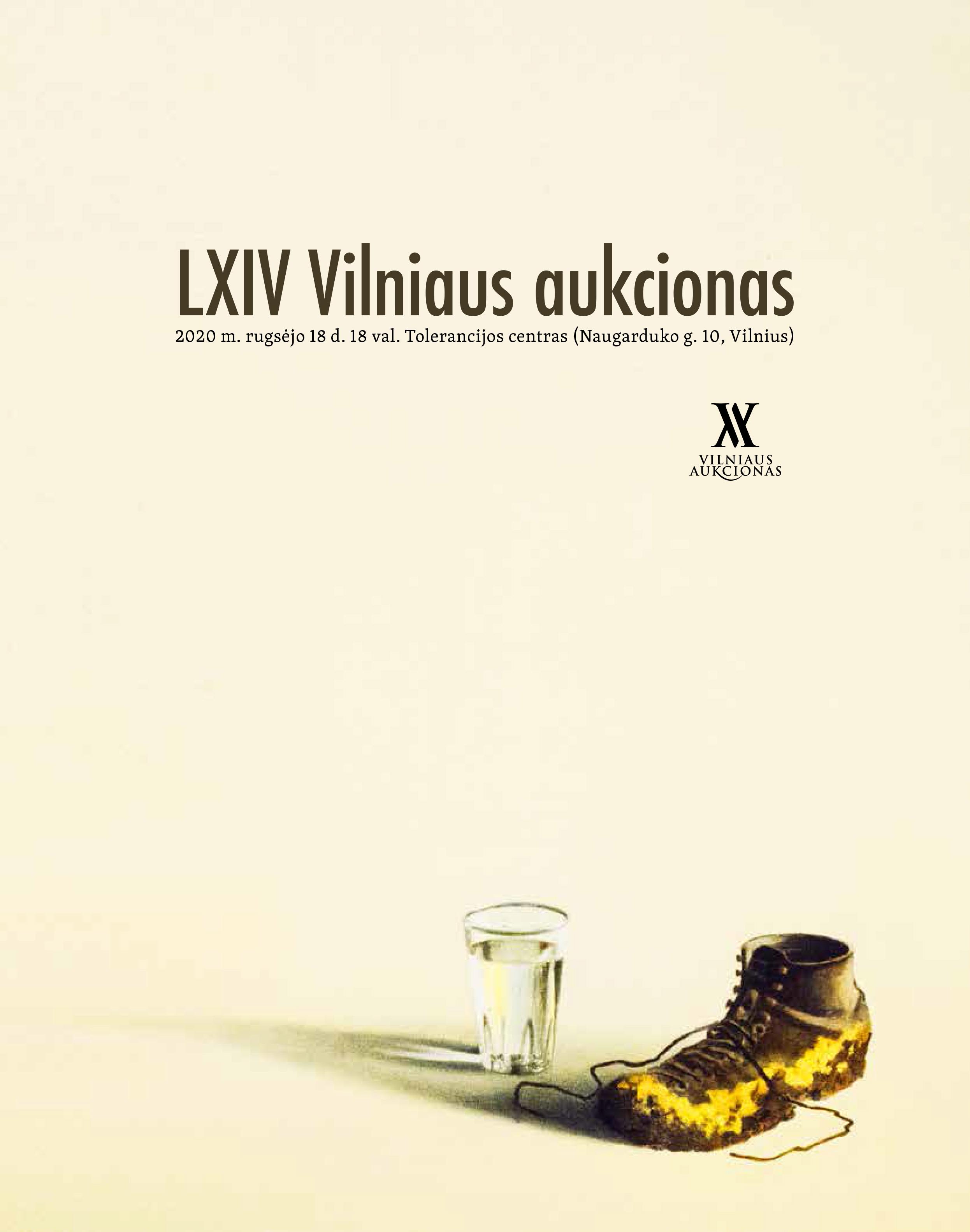 LXIV Vilniaus aukciono katalogo viršelis | Rengėjų nuotr.