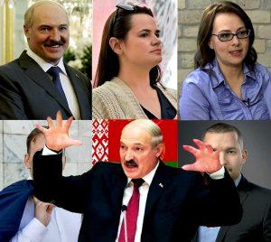 Prezidento rinkimai Baltarusijoje | Alkas.lt koliažas