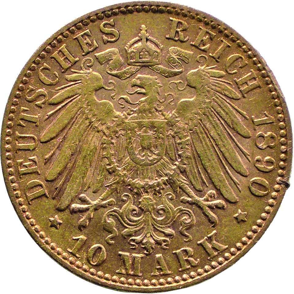 Lobyje rasta 1890 metų 10 markių moneta. Reverse pavaizduotas erelis, nurodyta legenda, data ir nominalas | E. Remecas, Lietuvos nacionalinio muziejaus nuotr.