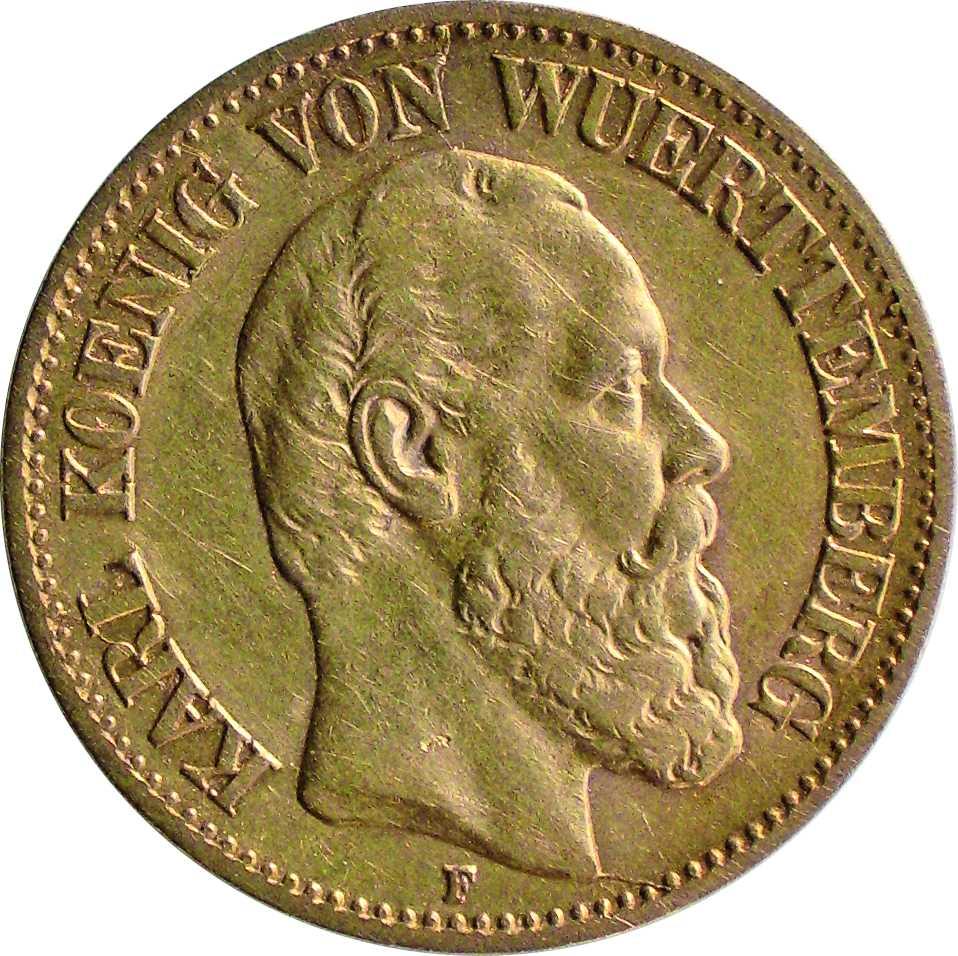 Lobyje rasta 10 markių moneta. Averse pavaizduotas Karolis I, 1890 m. | E. Remecas, Lietuvos nacionalinio muziejaus nuotr.