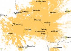 LRT LITUANICA padengimo žemėlapis | telecentras.lt nuotr.