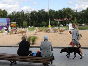 Paplūdimys Lukiškių aikštėje | S. Žumbio nuotr.