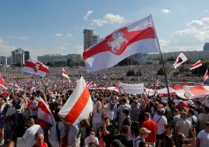 Minske tęsiasi šalies piliečių pasipriešinimas diktatoriaus Aleksandro Lukašenkos režimui | FB nuotr.