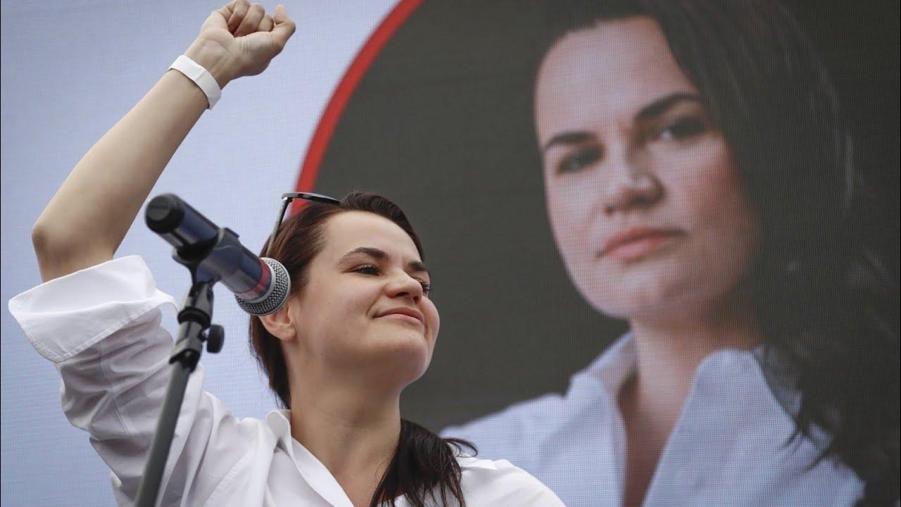 Svetlana Tichanosvskaja | youtube.com ekrano nuotr.