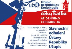 Užupyje bus iškilmingai atidengta Užupio Respublikos Konstitucijos lenta čekų kalba | Rengėjų nuotr.