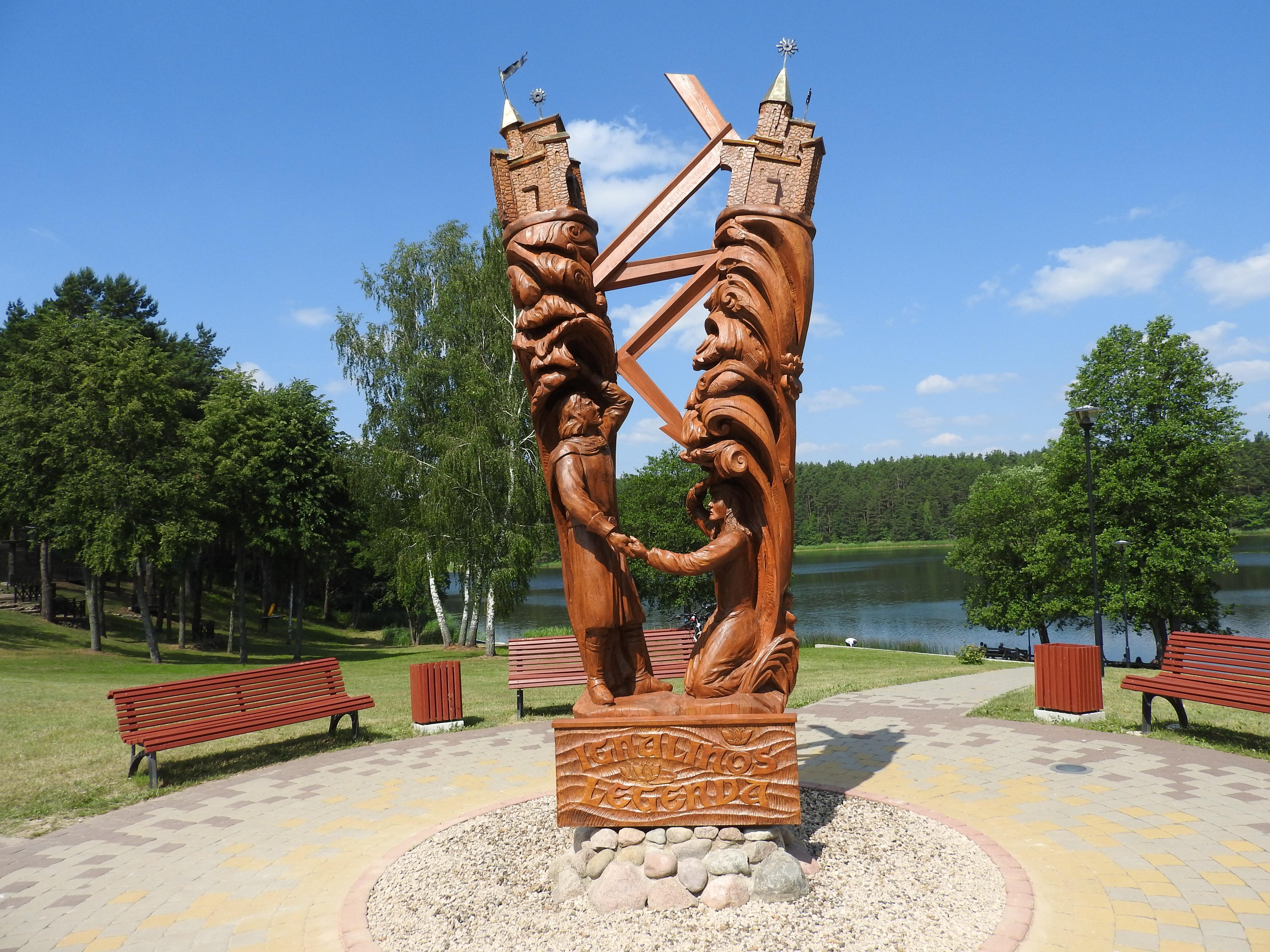 Igno ir Linos skulptūra | L. Kovalevskienės nuotr.