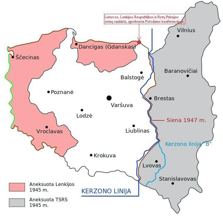 Kerzono linija ir teritorijų aneksija   autoriaus nuotr.