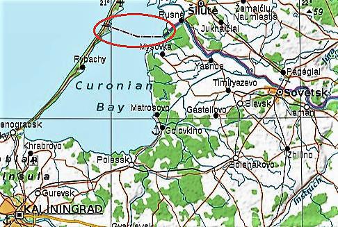 Sienos fragmentas Kuršių mariose sovietmečio žemėlapiuose | autoriaus nuotr.