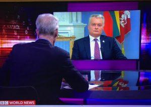 Prezidentas virtualioje diskusijoje | lrp.lt nuotr.