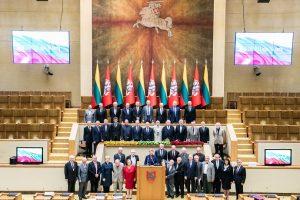Lietuvos Nepriklausomybės atkūrimo 30-mečio minėjime pagerbti Nepriklausomybės Akto signatarai | lrs.lt nuotr.